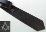 "Tie with Symbol ""Square & Compass"", black"