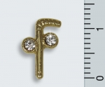 "Pin ""Two-Ball-Cane"", Strass"