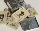 Pack of Playing Cards, incl. Silver Case