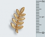 "Pin ""Akazie"" 18 ct vergoldet"