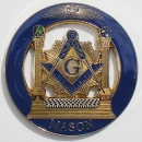 "Metal badge, self-adhesive ""MASON"""