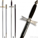 Ceremonial Knights Templar, Scabbard white or black