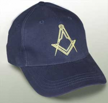 "Baseball cap ""Square and Compass"", blue"