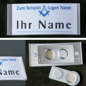 Name tag stainless steel matt