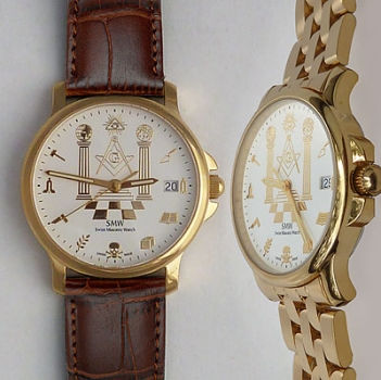 "Wrist watch ""Symbols"", goldplated"