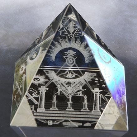 Paperweight Pyramid Masonic Symbols