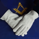 Masonic Gloves, white Leather